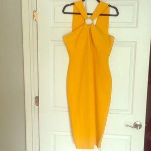 Gabrielle Union Yellow Midi Dress